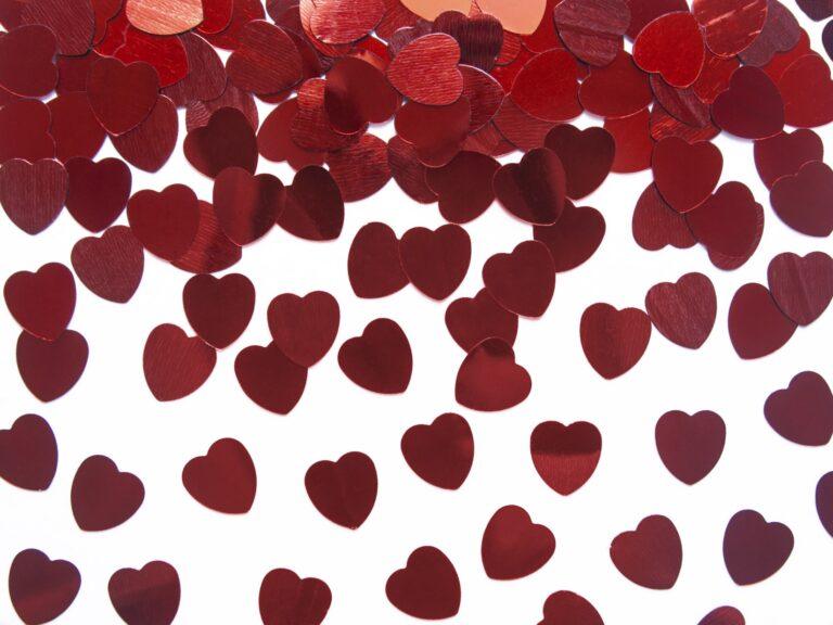 Κονφετί Foil Κόκκινες Καρδιές 10mm – 30 Γραμμάρια