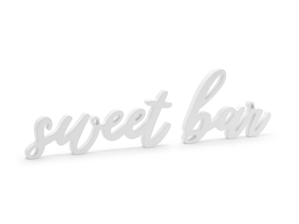 Ξύλινη Eπιγραφή Sweet Bar Λευκή