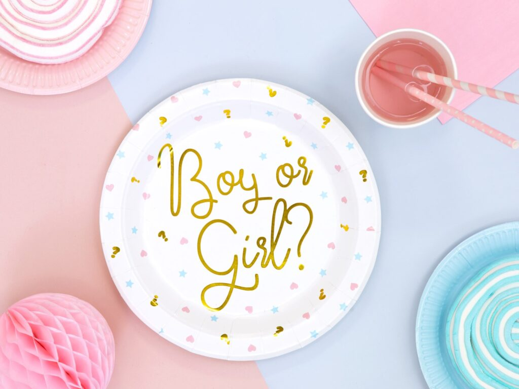 Χάρτινα Πιάτα Boy or Girl? 23εκ – 6 Τεμάχια
