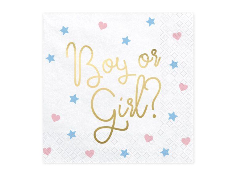 Χαρτοπετσέτες Boy or Girl 33×33εκ – 20 Τεμάχια