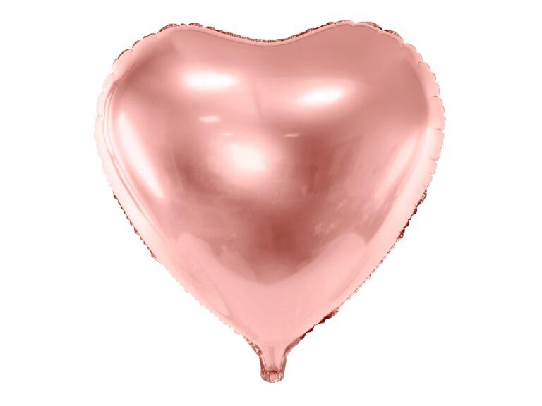 Μπαλόνι Foil Καρδιά Ροζ Χρυσό 45εκ