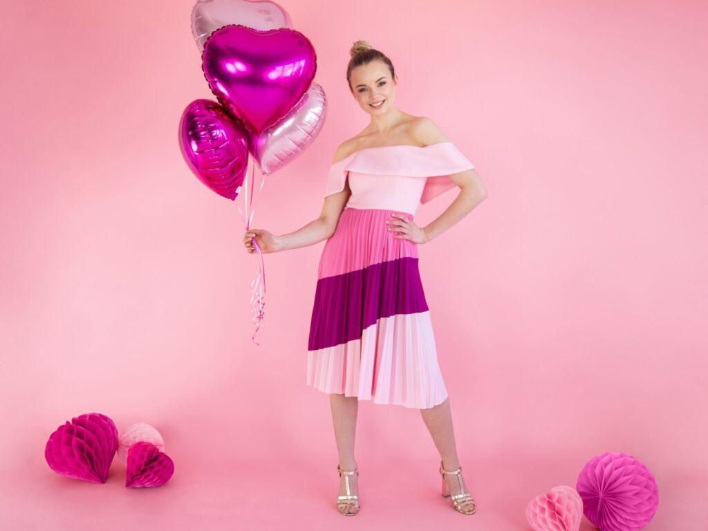 Μπαλόνι Foil Καρδιά Ροζ 45εκ