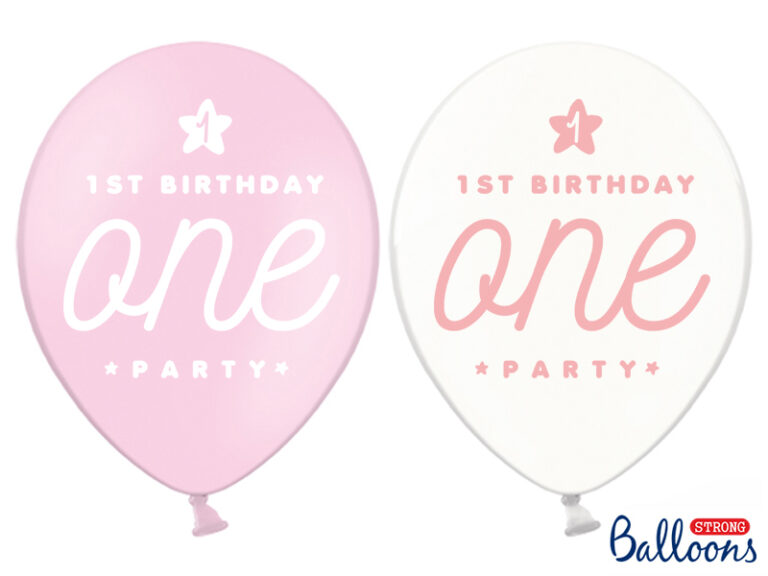 Μπαλόνια Latex One Ροζ – 6 Τεμάχια