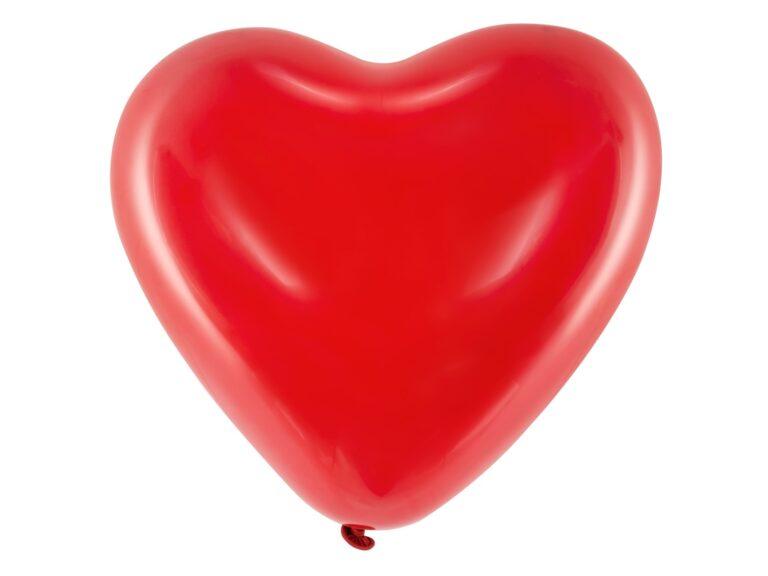 Μπαλόνια Latex Κόκκινες Καρδιές 40εκ – 6 Τεμάχια