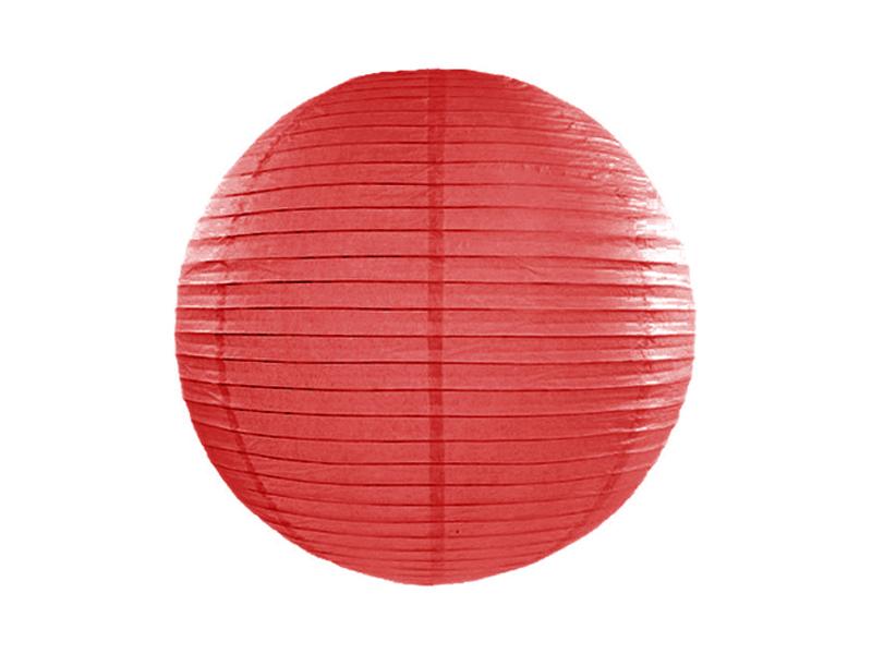 Χάρτινο Διακοσμητικό Φαναράκι Κόκκινο 25εκ