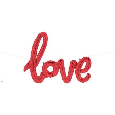 Μπαλόνι Foil Love Κόκκινο 78×53εκ