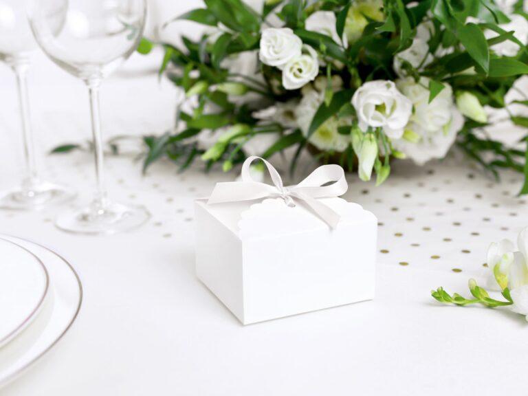 Χάρτινα Κουτάκια White Chic Λευκά – 10 Τεμάχια