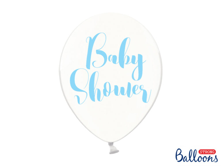 Μπαλόνια Latex Διαφανα Baby Shower Γαλάζιο 30εκ – 6 Τεμάχια