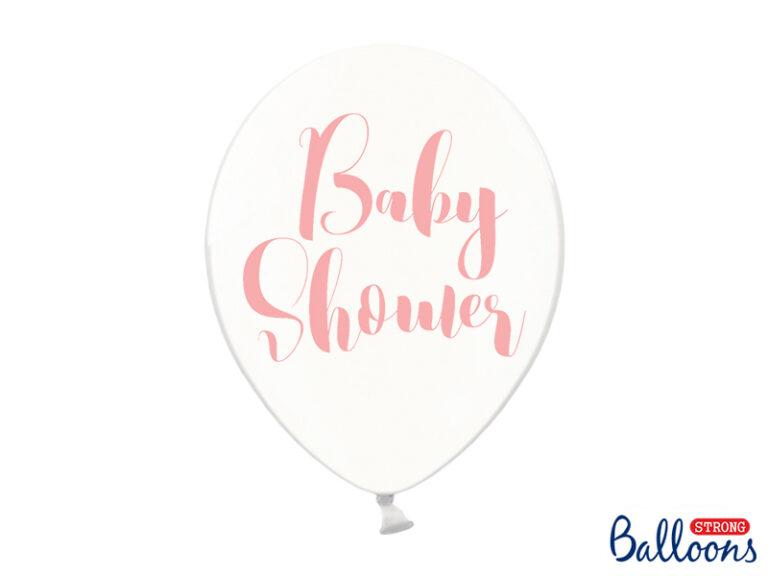 Μπαλόνια Latex Διαφανα Baby Shower Ροζ 30εκ – 6 Τεμάχια