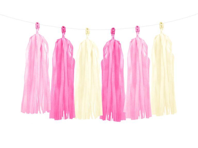 Χάρτινη Γιρλάντα Tassel Pink Mix