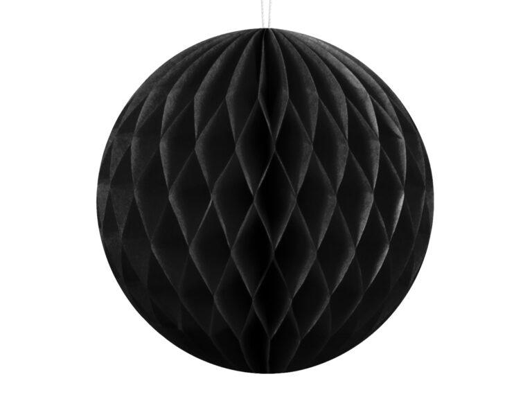 Χάρτινη Διακοσμητική Μπάλα Μαύρη 10εκ