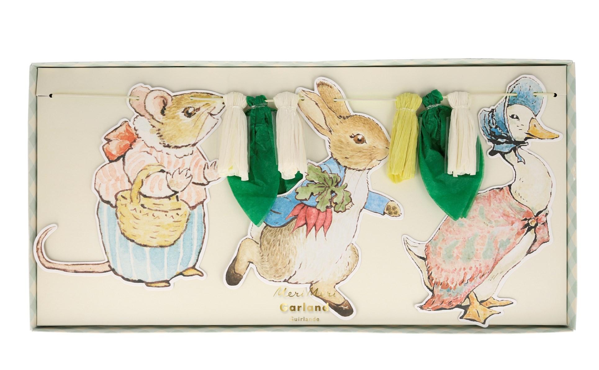 Χάρτινη Γιρλάντα Peter Rabbit & Friends