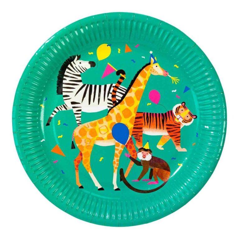 Χάρτινα Πιάτα Party Animals 23εκ – 8 Τεμάχια