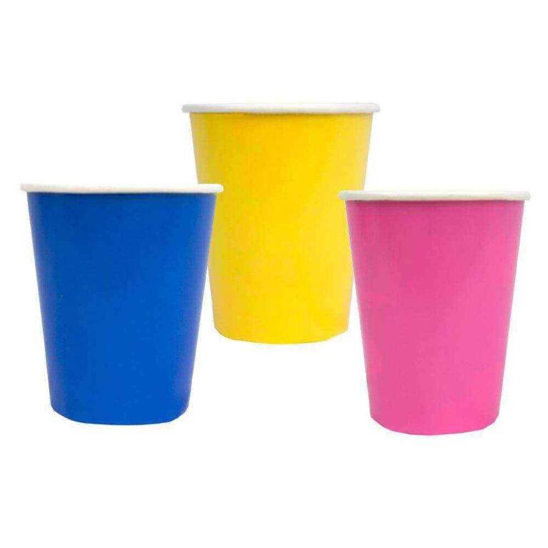 Χάρτινα Πολύχρωμα Ποτήρια  250ml – 12 Τεμάχια