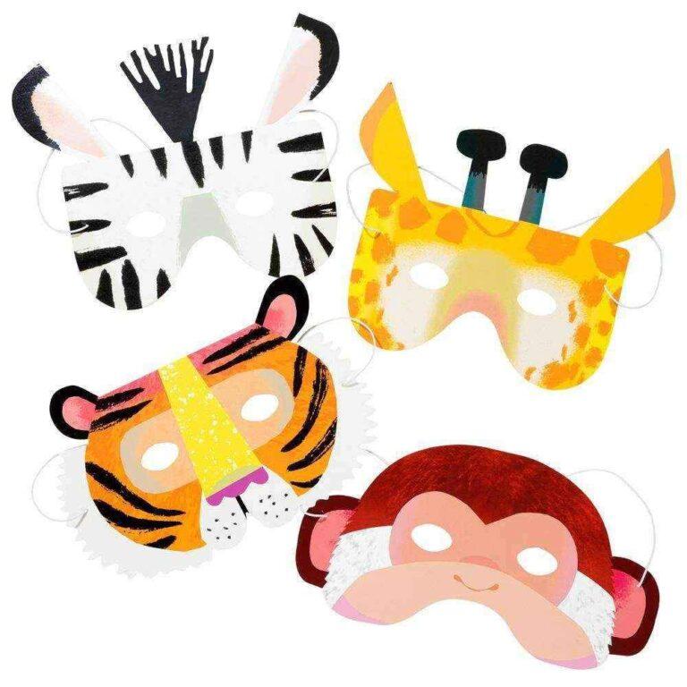 Χάρτινες Μάσκες Party Animals – 8 Τεμάχια