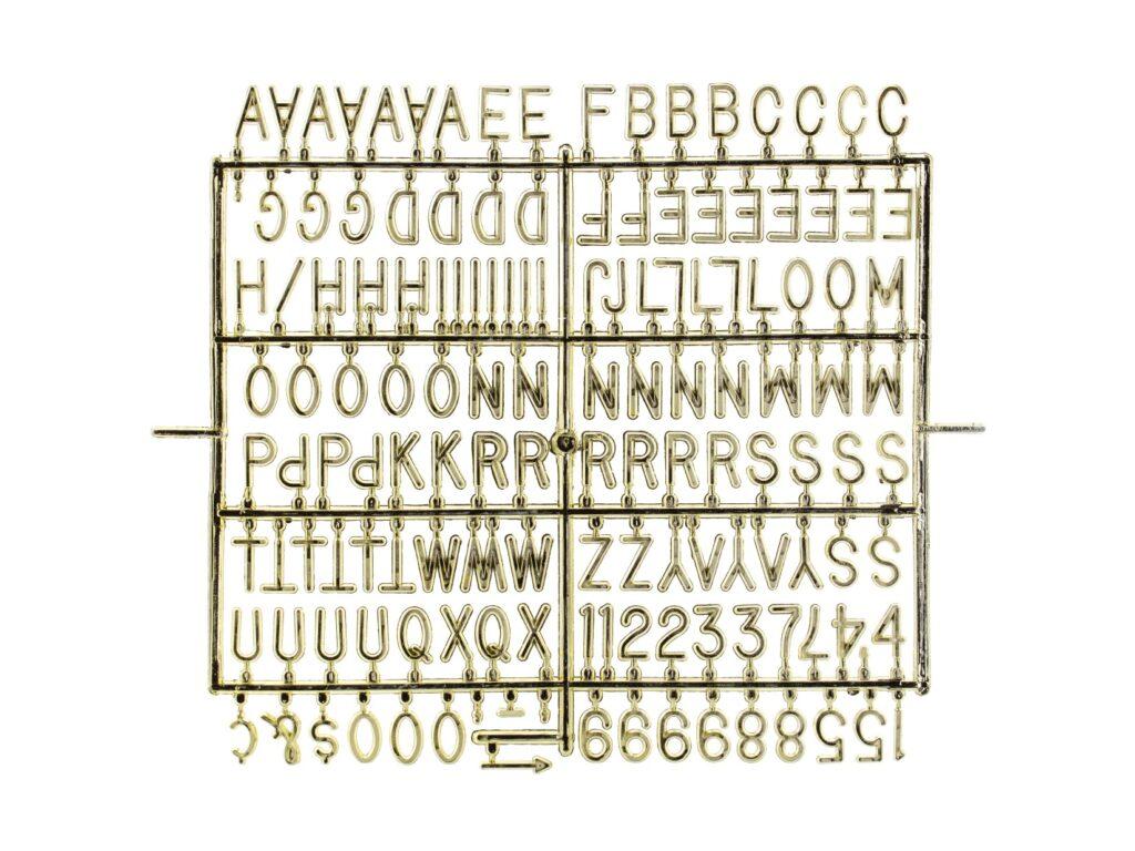 Λευκός Πίνακας Καρδιά με Χρυσά Γραμματάκια