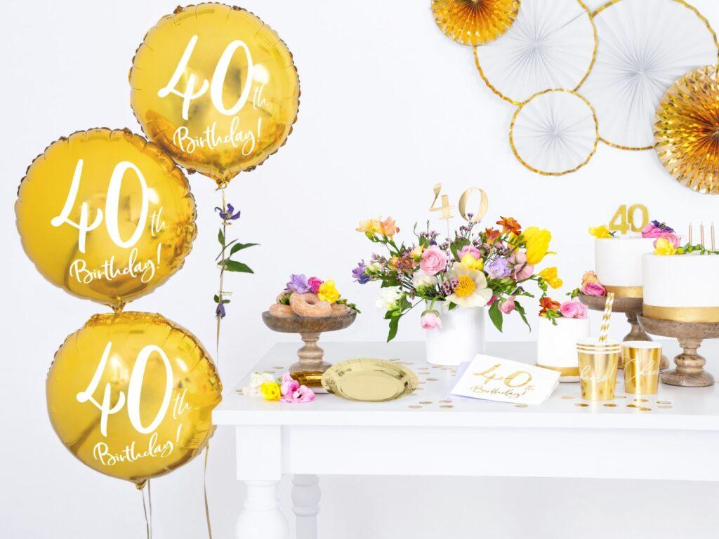 Μπαλόνι Foil Χρυσό 40th Birthday 45εκ
