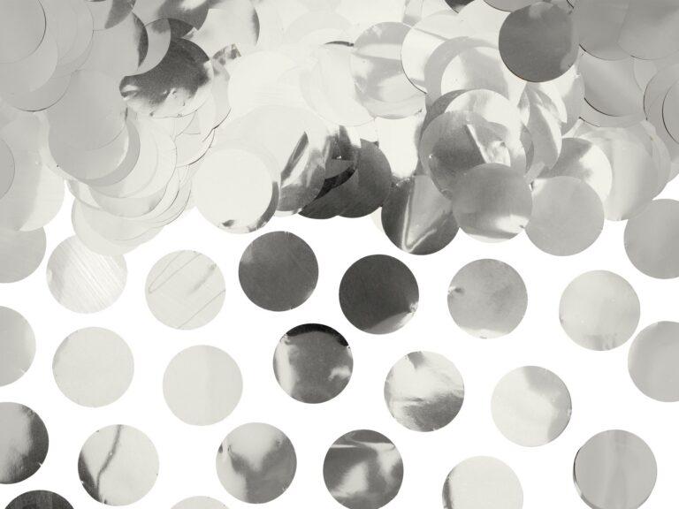 Κονφετί Foil Ασημί – 15 Γραμμάρια