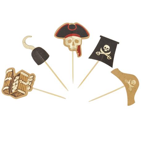Χάρτινα Διακοσμητικά Στικ Πειρατές – 10 Τεμάχια