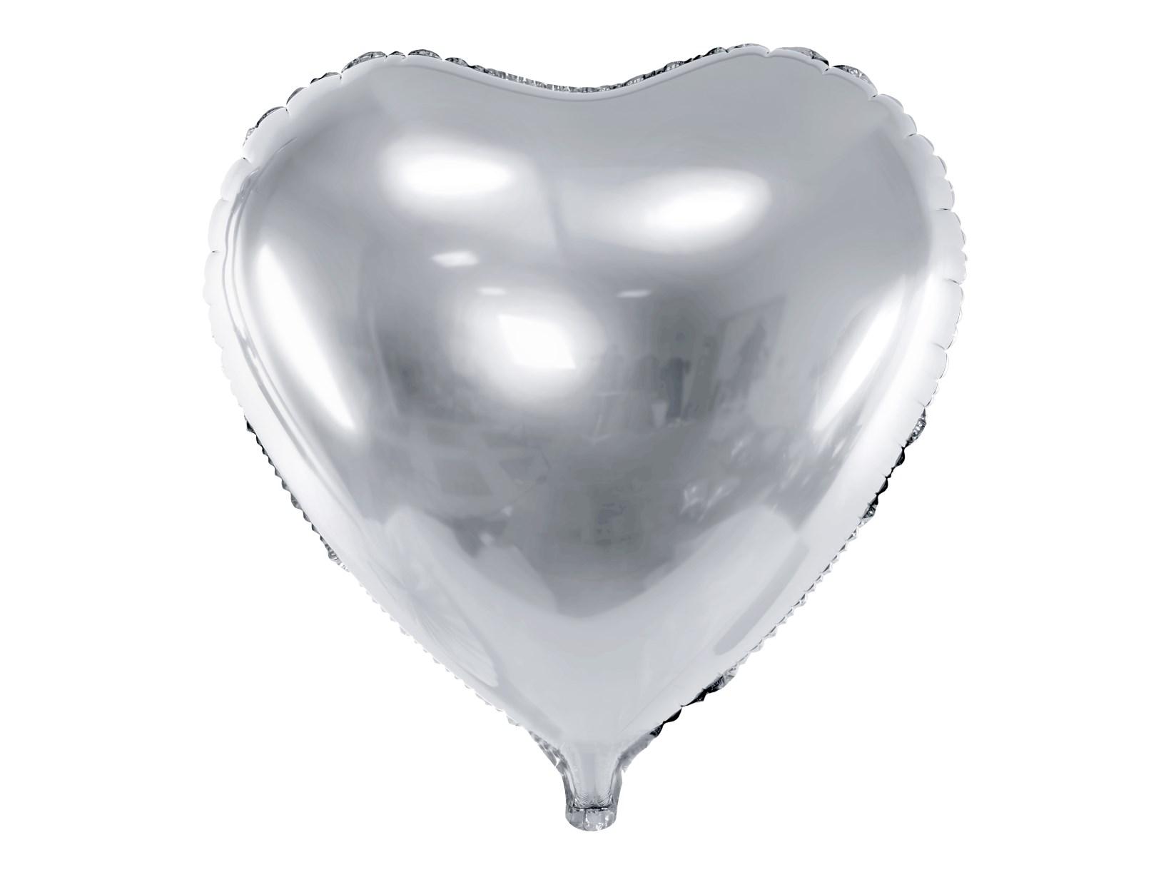 Μπαλόνι Foil Καρδιά Ασημί 45εκ