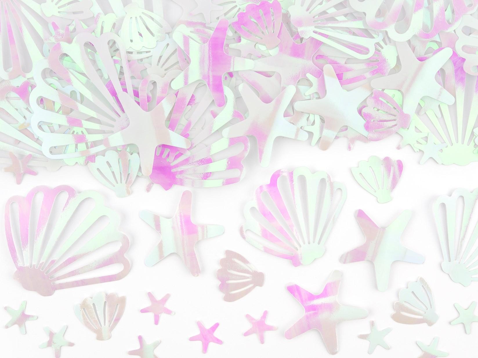 Κονφετί Foil Ιριδίζον Κοχύλια & Αστερίες – 23 Γραμμάρια