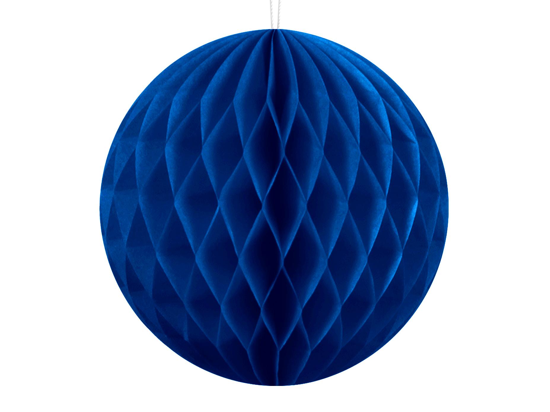 Χάρτινη Διακοσμητική Μπάλα Μπλε 10εκ