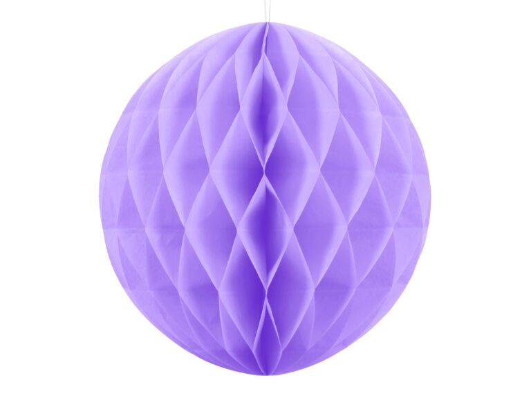 Χάρτινη Διακοσμητική Μπάλα Λιλά 20εκ