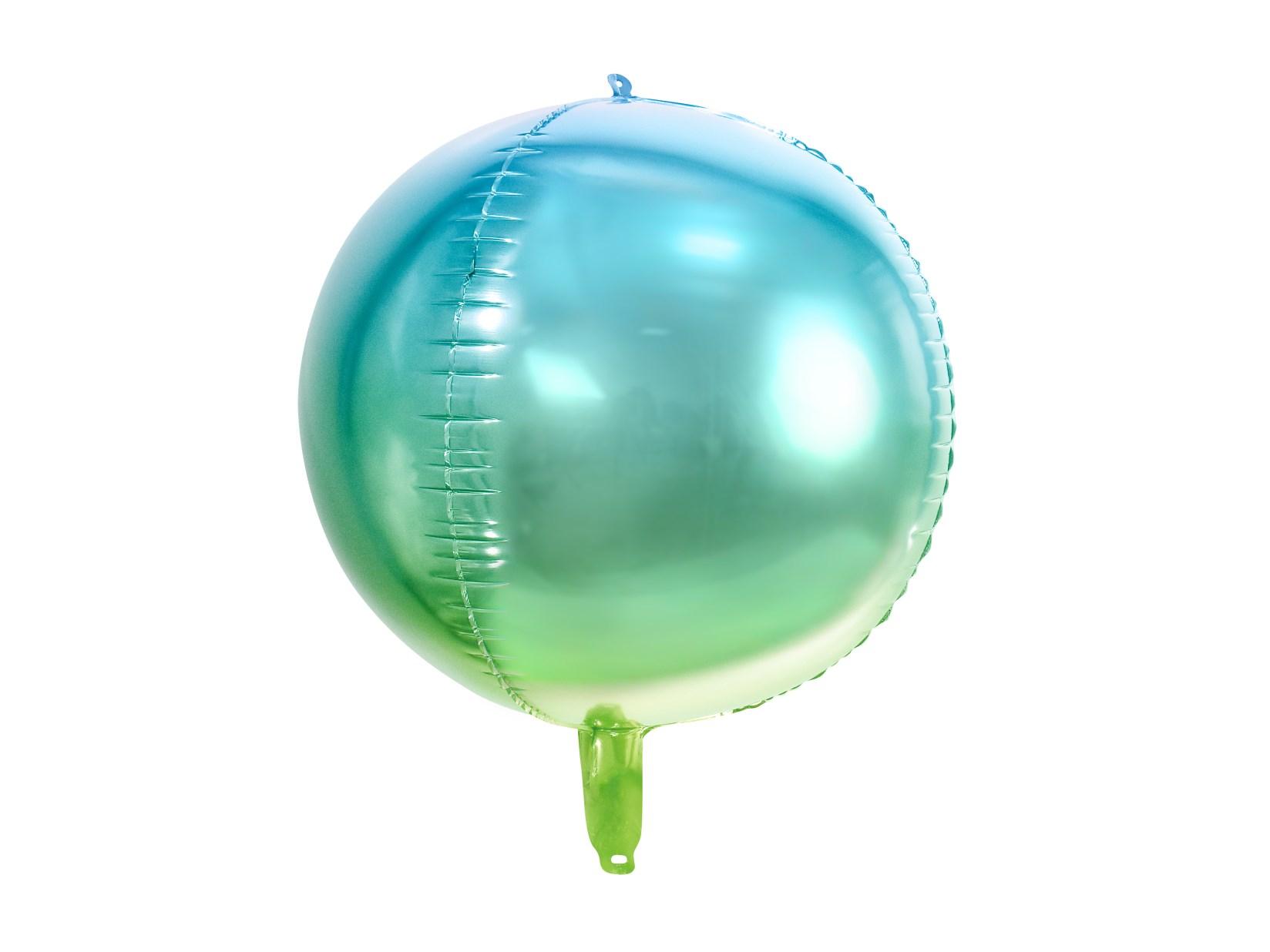 Μπαλόνι Foil Ombre Μπλε & Πράσινο 35εκ