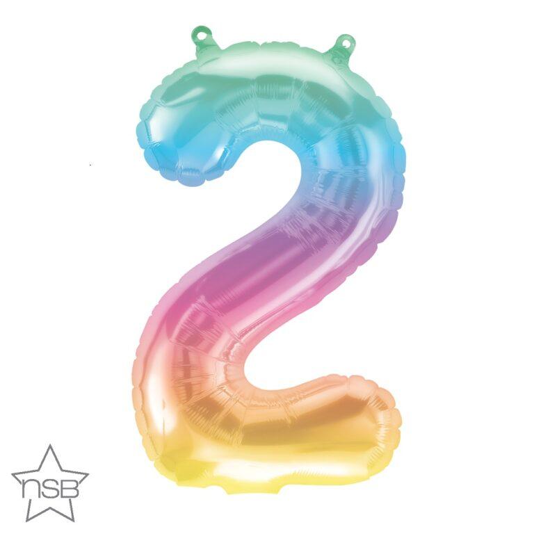 Μπαλόνι Foil Jelly Ombre Αριθμός Δύο 41εκ