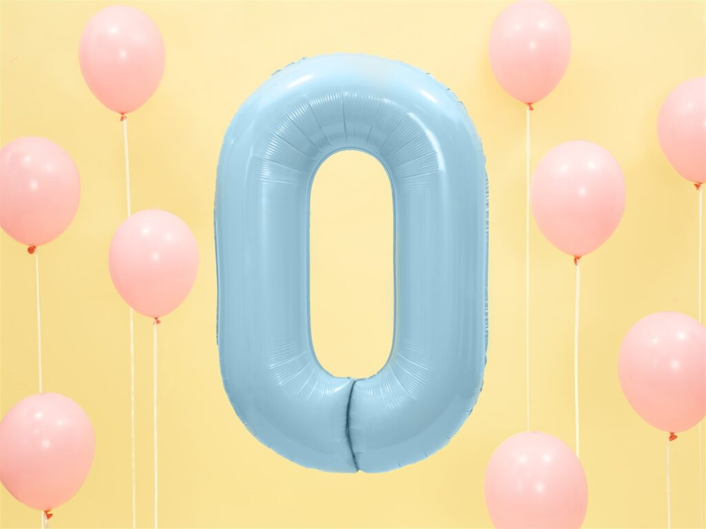 Μπαλόνι Foil Γαλάζιο Αριθμός Μηδέν 86εκ