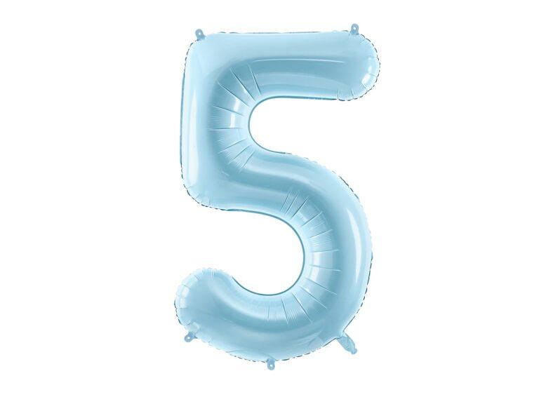 Μπαλόνι Foil Γαλάζιο Αριθμός Πέντε 86εκ