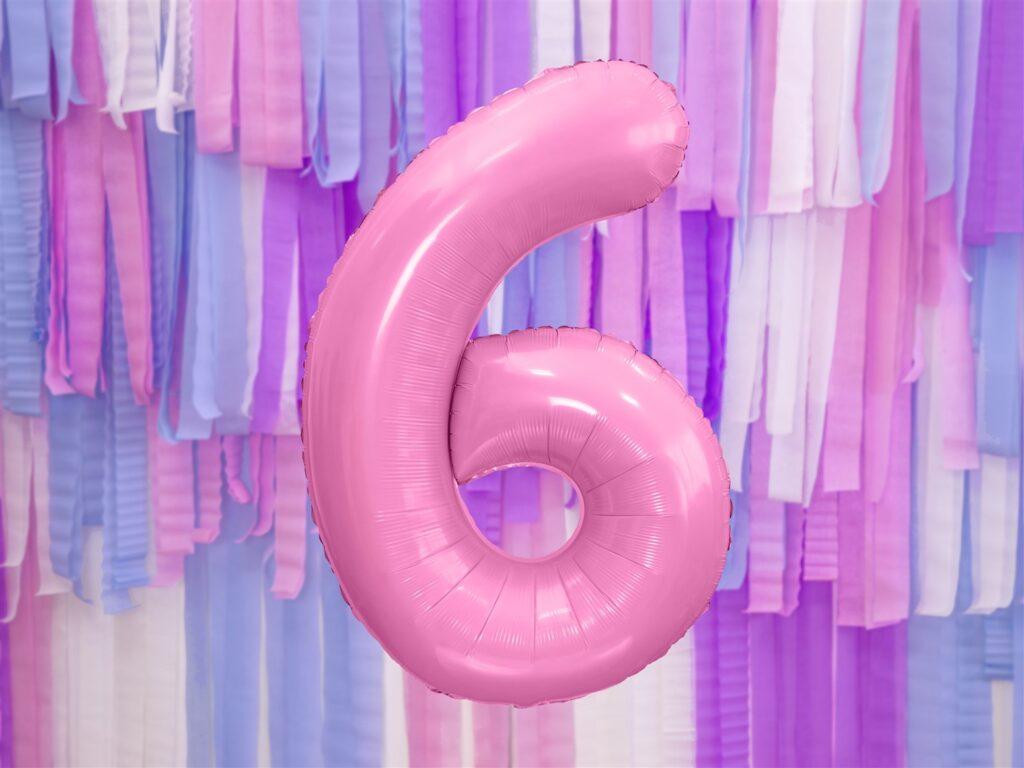 Μπαλόνι Foil Ροζ Αριθμός Έξι 86εκ