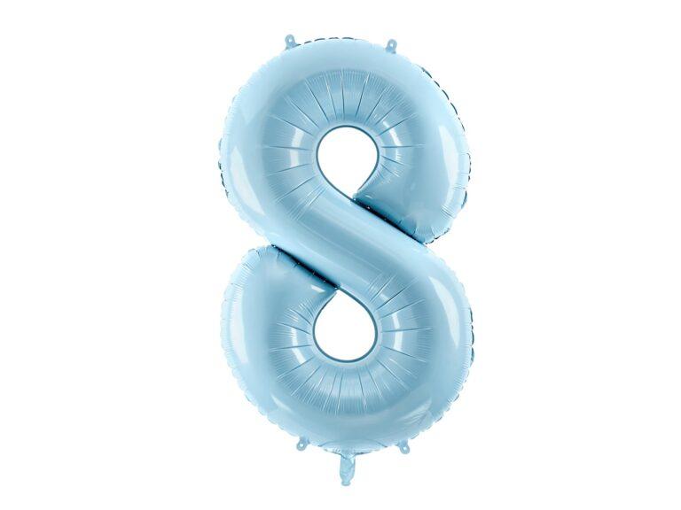 Μπαλόνι Foil Γαλάζιο Αριθμός Οκτώ 86εκ