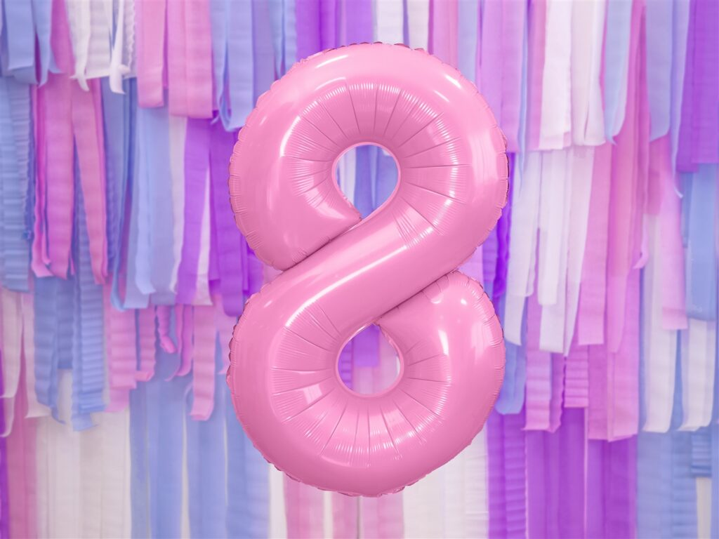 Μπαλόνι Foil Ροζ Αριθμός Οκτώ 86εκ