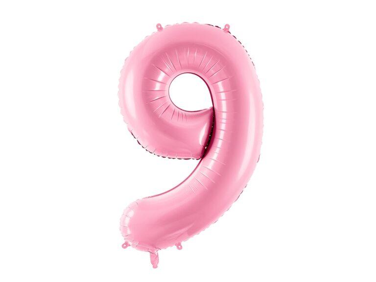 Μπαλόνι Foil Ροζ Αριθμός Εννιά 86εκ