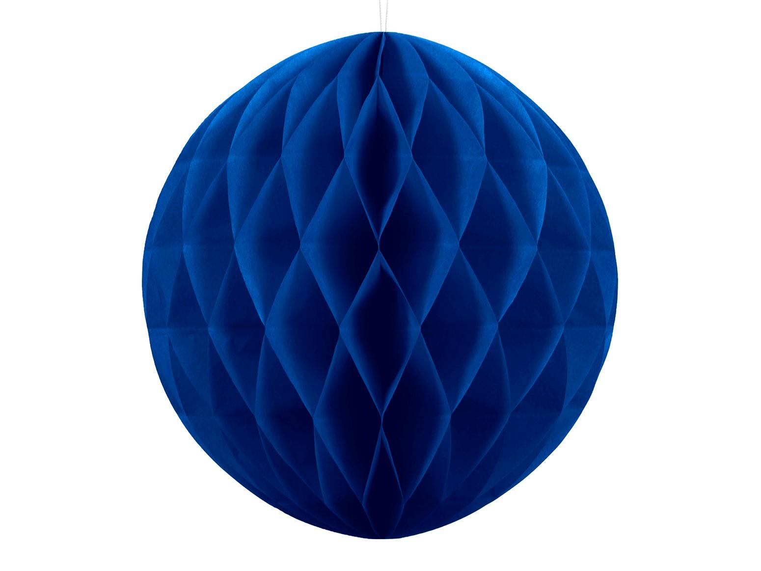 Χάρτινη Διακοσμητική Μπάλα Μπλε 30εκ