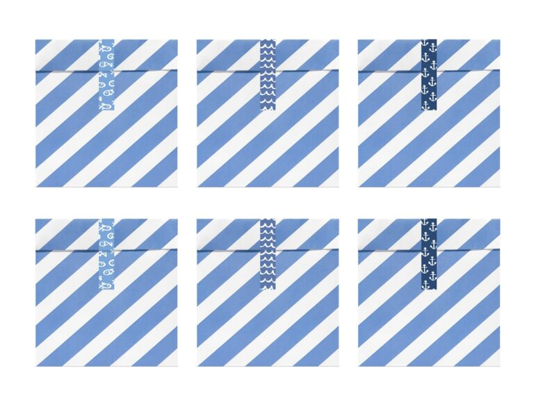 Χάρτινα Σακουλάκια Κερασμάτων Ahoy – 6 Τεμάχια