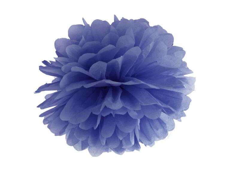 Χάρτινα Μπλε Pom Pom 35εκ