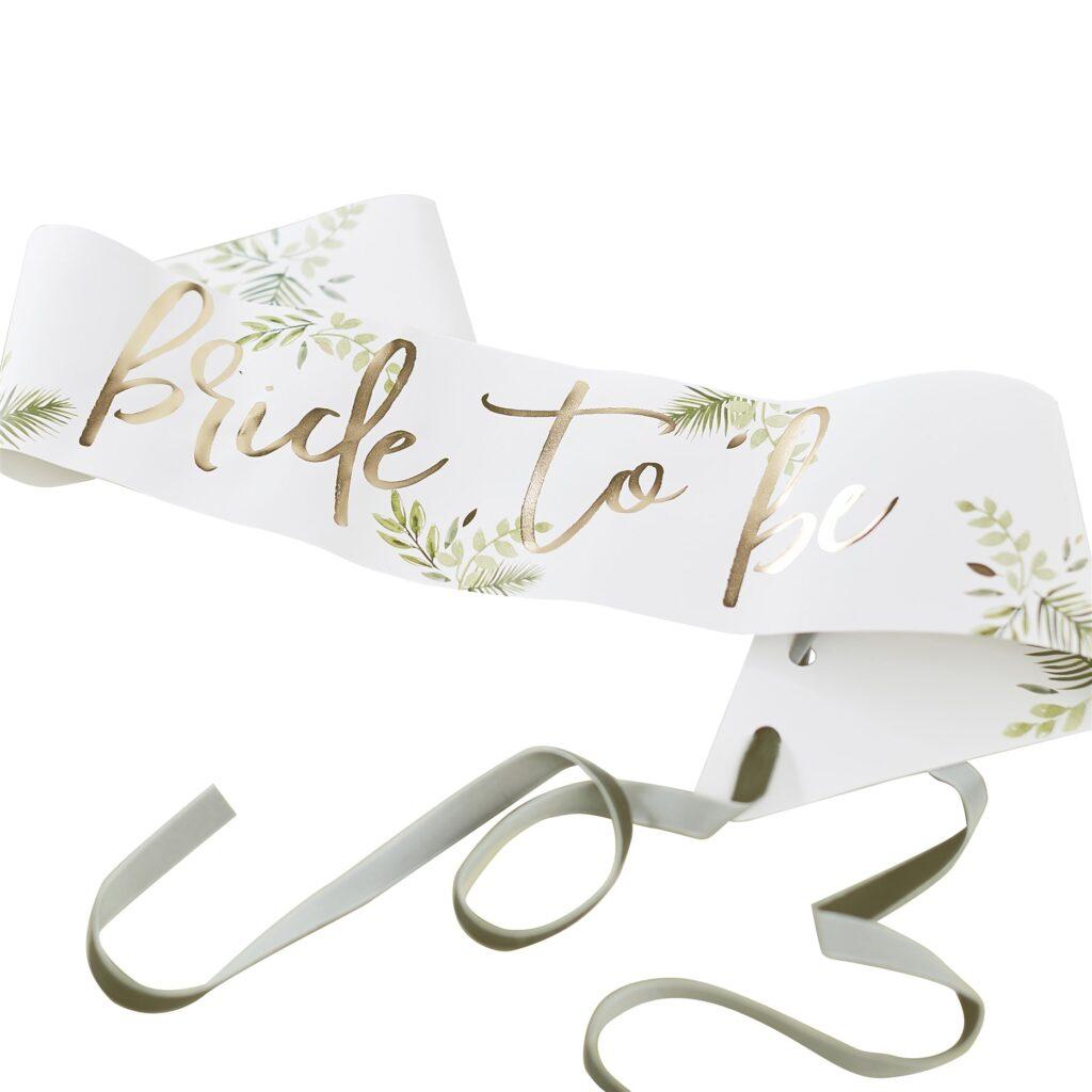 Κορδέλα Bride To Be Botanical