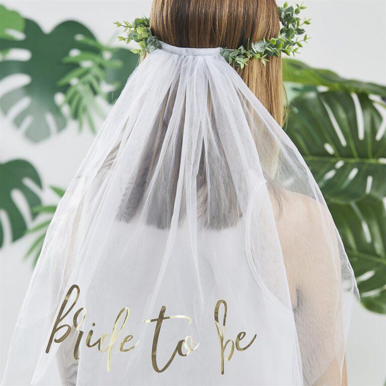 Στεφάνι με Πέπλο Bride to Be Botanical