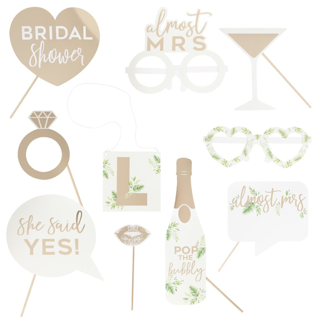 Photo Booth Props Almost Mrs Προσωποποιημένα – 10 Τεμάχια