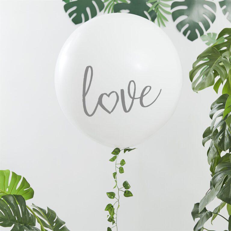 Μπαλόνι Latex Γίγας Love με Γίρλαντα από Φύλλα