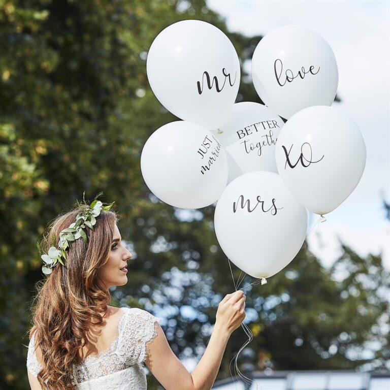 Μπαλόνια Latex Wedding Mix – 6 Τεμάχια
