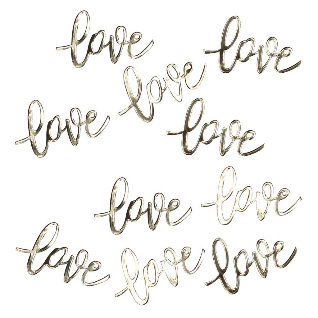 Κονφετί Love Χρυσό – 14 Γραμμάρια