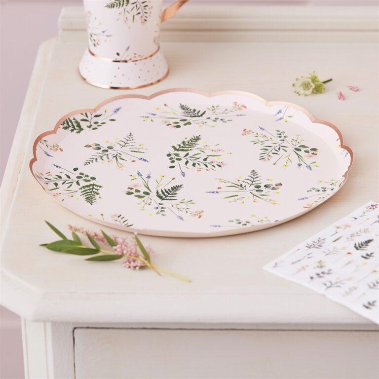 Χάρτινα Πιάτα Floral Tea Party 21,5εκ – 8 Τεμάχια