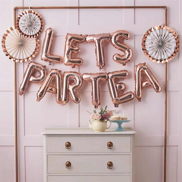 Μπαλόνια Foil LETS PARTEA Ροζ Χρυσό