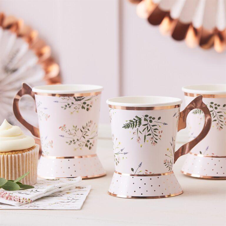 Χάρτινα Ποτήρια Floral Tea Party 260ml – 8 Τεμάχια