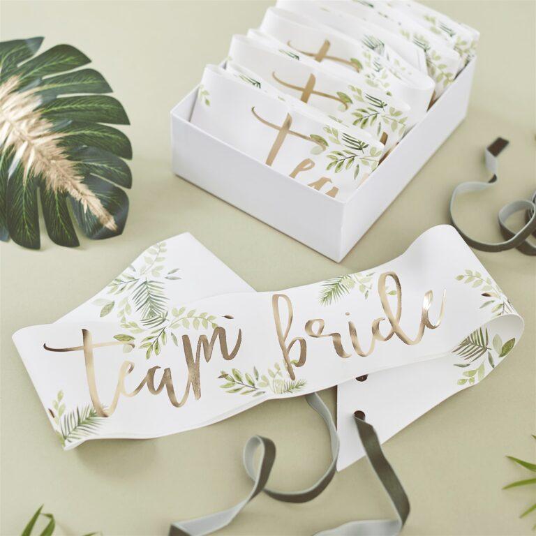 Κορδέλες Team Bride Botanical – 6 Τεμάχια