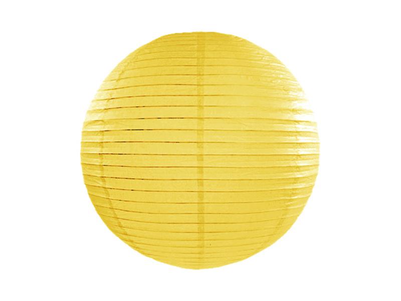 Χάρτινο Διακοσμητικό Φαναράκι Κίτρινο 25εκ