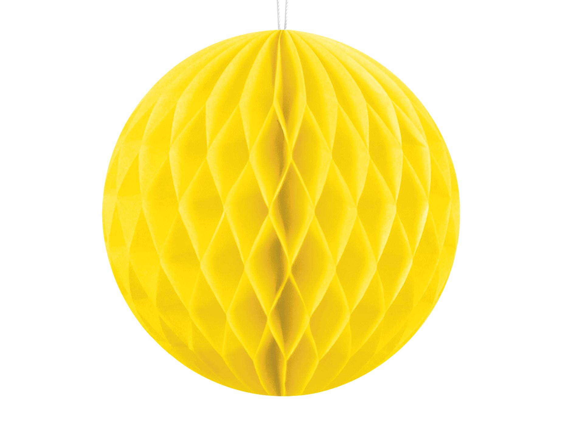Χάρτινη Διακοσμητική Μπάλα Κίτρινη 10εκ